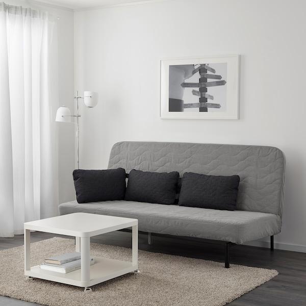 Sleeper sofa NYHAMN with foam mattress, Knisa gray/beige