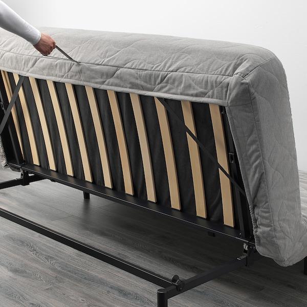 Beddinge Bedbank Ikea.Nyhamn Sleeper Sofa With Pocket Spring Mattress Knisa Gray Beige