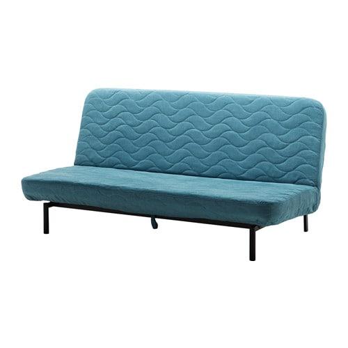 NYHAMN Sleeper sofa - with foam mattress/Borred green/blue  - IKEA
