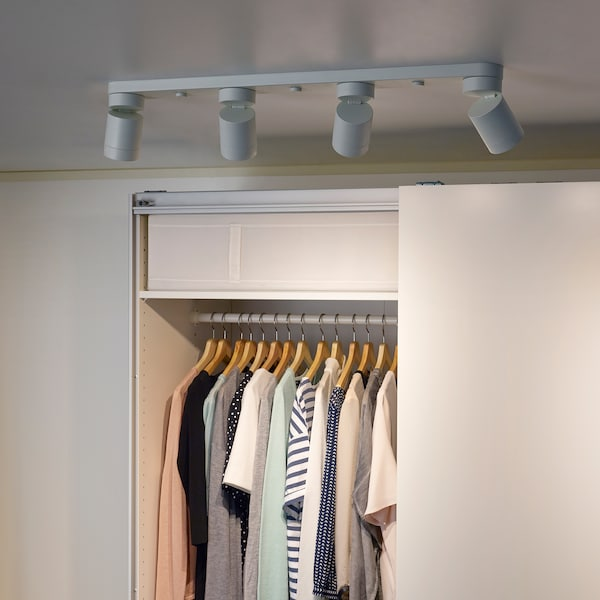 NYMÅNE Ceiling light with 4 spotlights, white