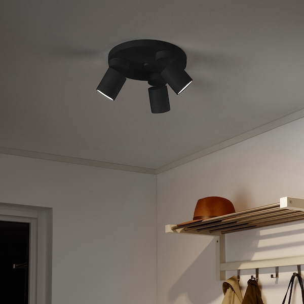 NYMÅNE ceiling spotlight with 3 lights anthracite 7.5 W 10 ""