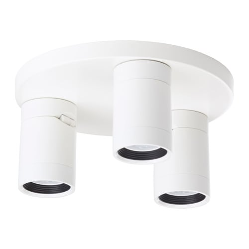 NYMÅNE Ceiling spotlight with 3 lights, white white -