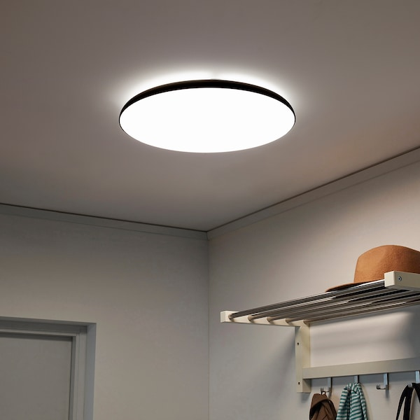 NymÅne Led Ceiling Lamp Anthracite Ikea