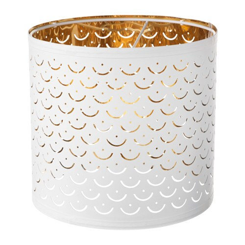 NYMÖ Lamp shade, white, brass color white/brass color 9