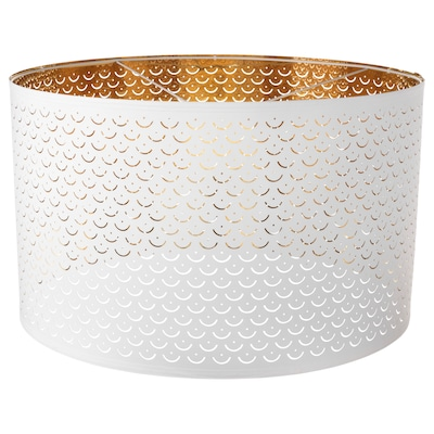 NYMÖ Lamp shade, white/brass color, 23 ""