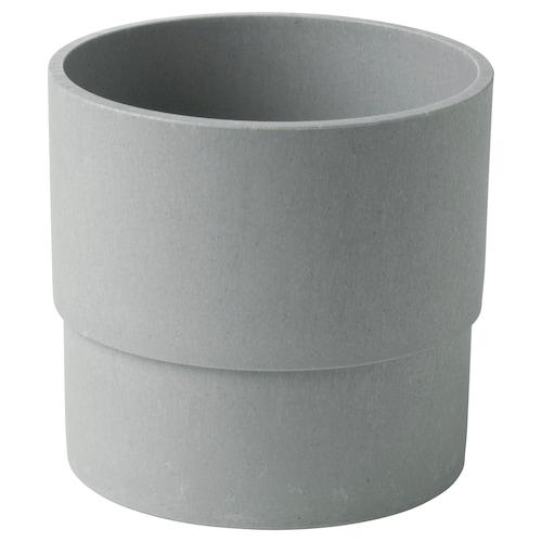"NYPON plant pot indoor/outdoor gray 4 ¾ "" 5 ½ "" 4 ¾ "" 5 """