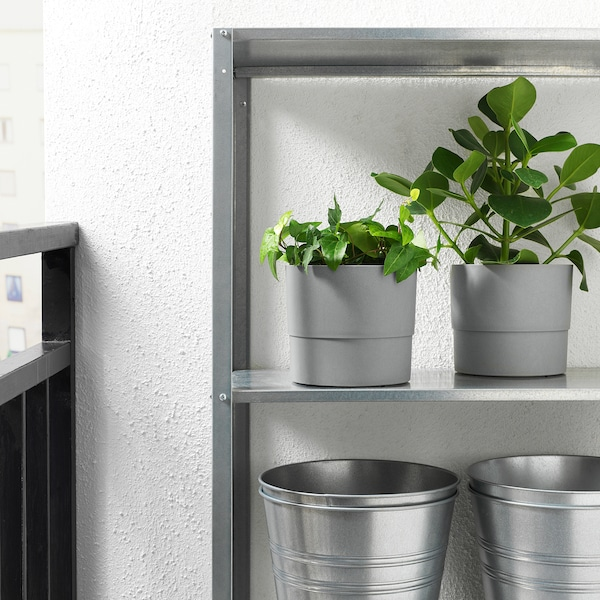 NYPON Plant pot, indoor/outdoor gray, 6 ""
