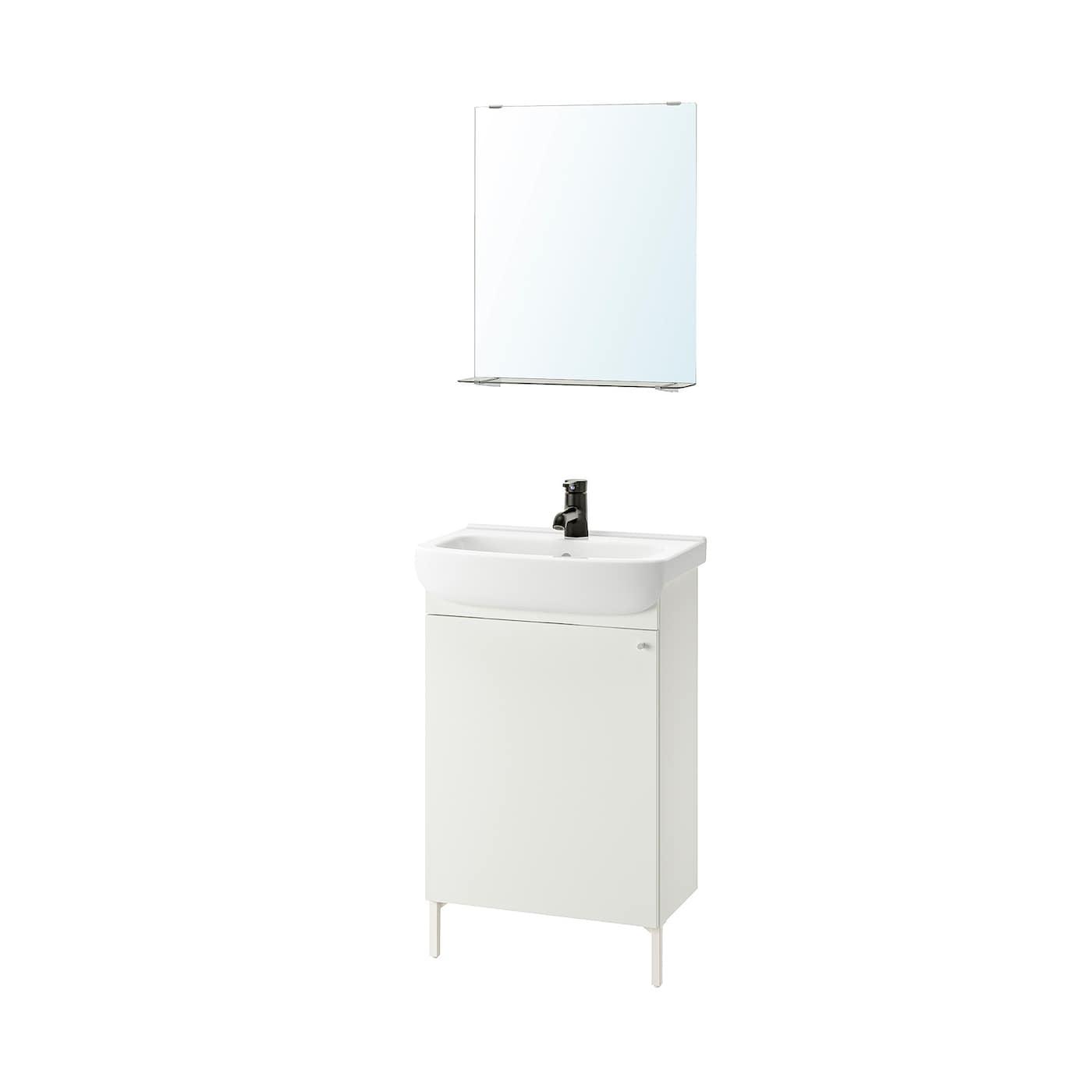 Nysjon Bjorkan Bathroom Furniture Set Of 5 White Saljen Faucet Ikea