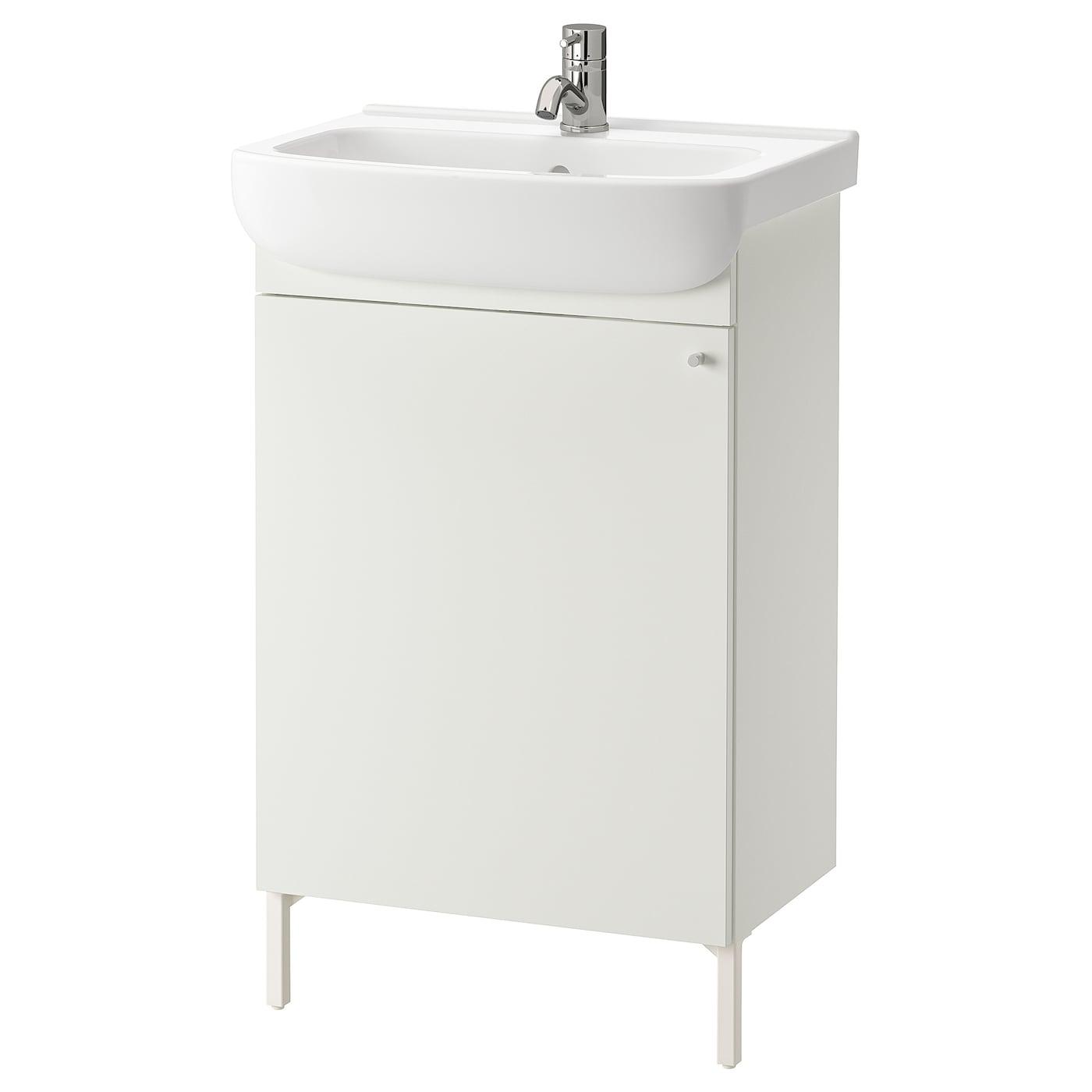 Nysjon Bjorkan Sink Cabinet With 1 Door White Pilkan Faucet Ikea