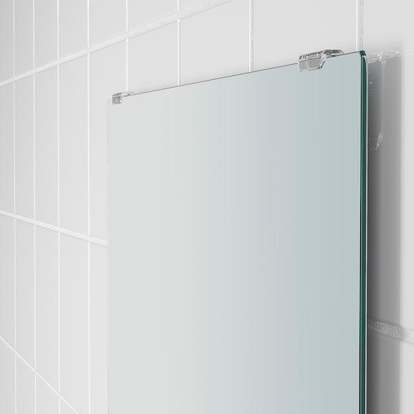 """NYSJÖN Mirror with shelf, white, 19 5/8x23 5/8 """""""
