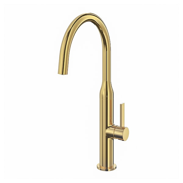 "NYVATTNET kitchen faucet polished brass color 15 3/4 "" 7 ¾ """