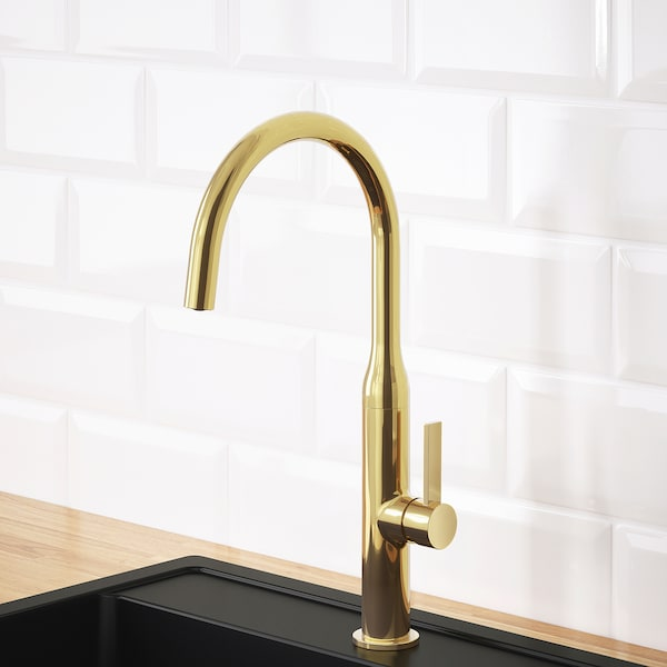 """NYVATTNET kitchen faucet polished brass color 15 3/4 """" 7 ¾ """""""
