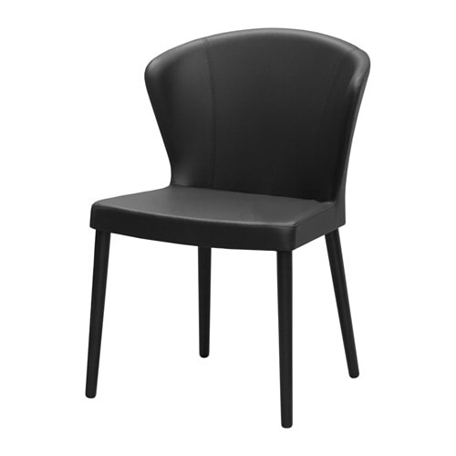 ODDMUND Chair, black stained Idhult, Idhult black
