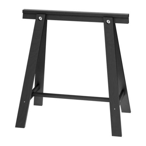 ODDVALD Trestle IKEA Solid wood, a durable natural material.