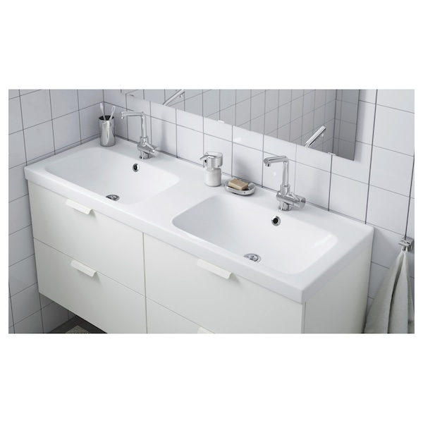 """ODENSVIK Double bowl sink, 56 1/4x19 1/4x2 3/8 """""""