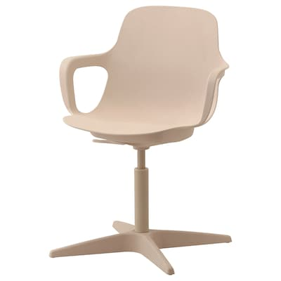 ODGER Swivel chair, white/beige