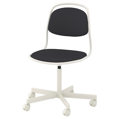 "ÖRFJÄLL swivel chair white/Vissle dark gray 243 lb 26 3/4 "" 26 3/4 "" 37 "" 19 1/4 "" 16 7/8 "" 18 1/8 "" 22 7/8 """