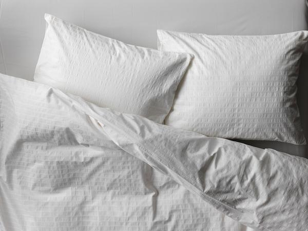 "OFELIA VASS duvet cover and pillowcase(s) white 205 /inch² 2 pack 86 "" 102 "" 20 "" 36 """