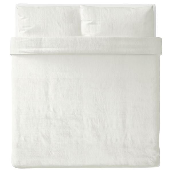 OFELIA VASS Duvet cover and pillowcase(s), white, King