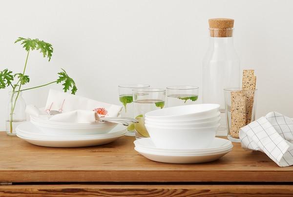"OFTAST Deep plate/bowl, white, 8 """