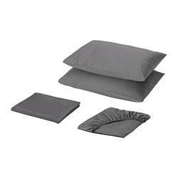 ÖKENSTJÄRNA sheet set, dark gray