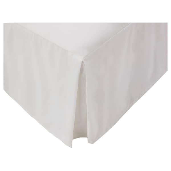 OLEBY Bed skirt, white, King