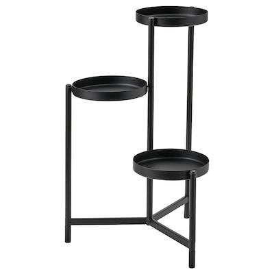 """OLIVBLAD Plant stand, indoor/outdoor black, 22 ¾ """""""