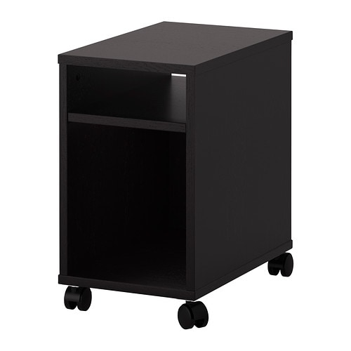 Oltedal nightstand black brown ikea for 12 wide bedside table