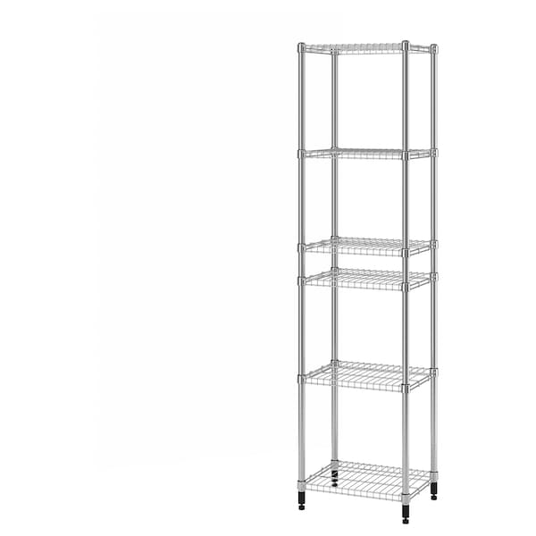 "OMAR 1 section shelving unit, 18 1/8x14 1/8x71 1/4 """
