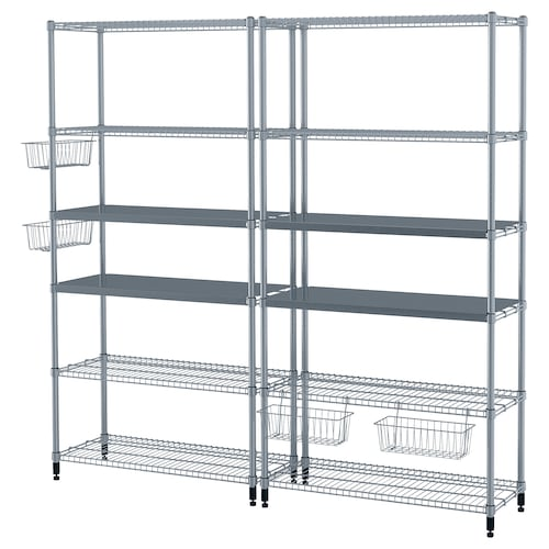 IKEA OMAR 2 section shelving unit