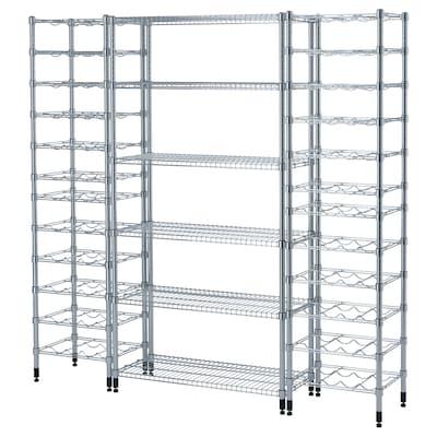"OMAR 3 shelf sections, 73 5/8x14 1/8x71 1/4 """