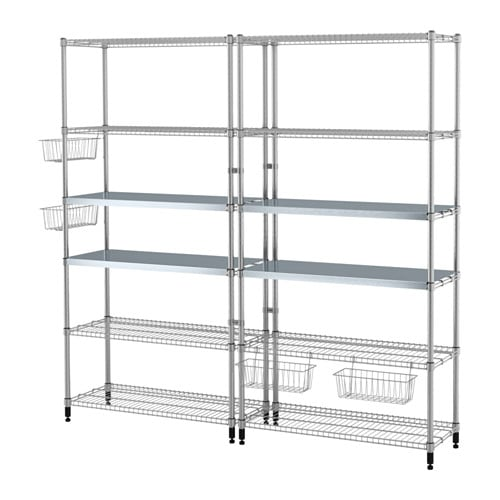 Omar 2 section shelving unit ikea - Ikea portabottiglie ...