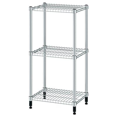"OMAR shelf unit galvanized 18 1/8 "" 14 "" 37 "" 35 lb"