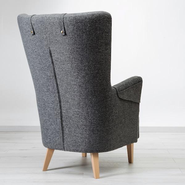 OMTÄNKSAM Armchair, Gunnared dark gray