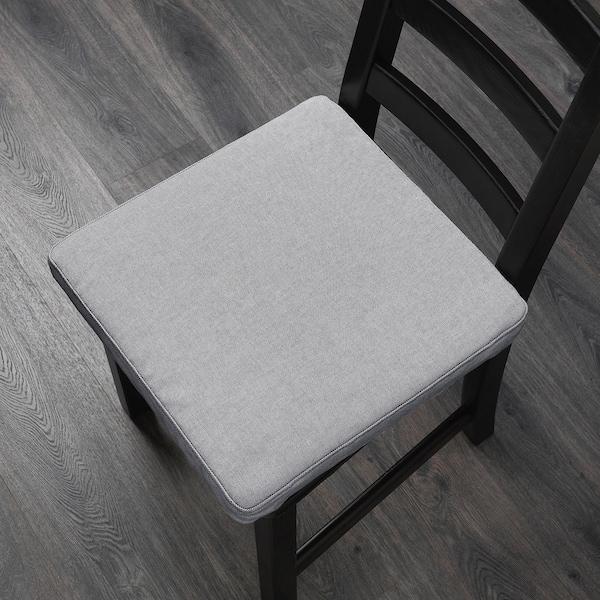 """OMTÄNKSAM Chair pad, Orrsta light gray, 16x16 """""""