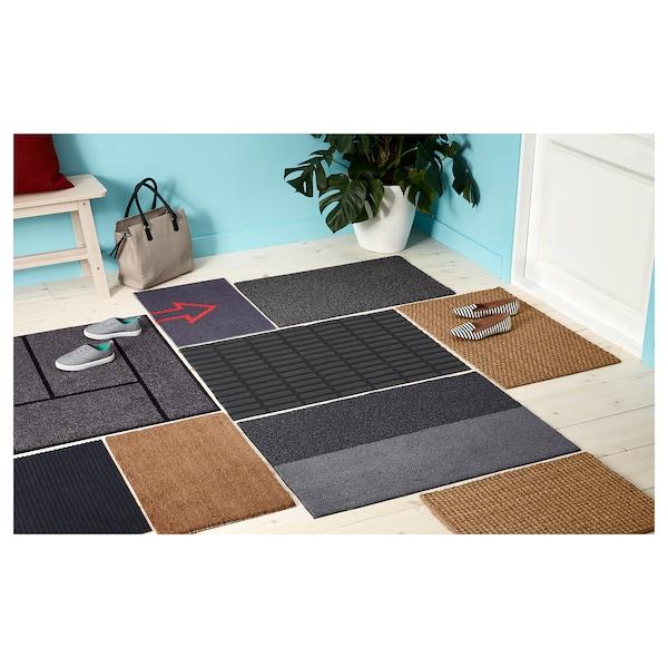 """OPLEV Door mat, indoor/outdoor gray, 1 ' 8 """"x2 ' 7 """""""