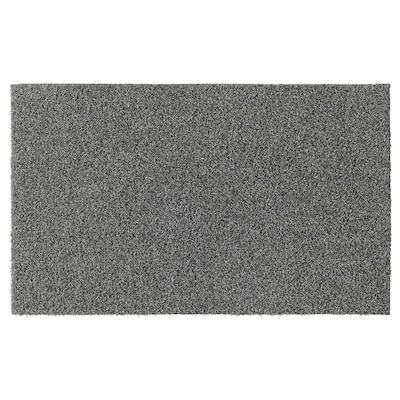 "OPLEV Door mat, indoor/outdoor gray, 1 ' 8 ""x2 ' 7 """