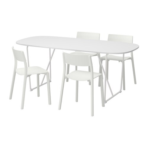 Oppeby backaryd janinge table and 4 chairs ikea for High table and chairs ikea