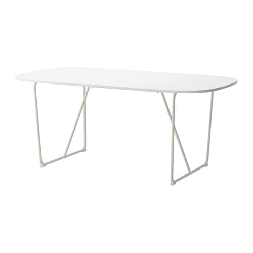 OPPEBY. Table, White, High Gloss Backaryd White