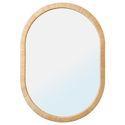 "OPPHEM Mirror, rattan, 21 1/4x30 3/8 """