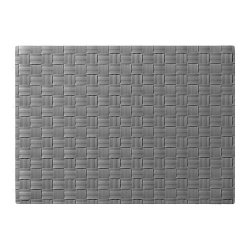 ORDENTLIG Place mat, gray