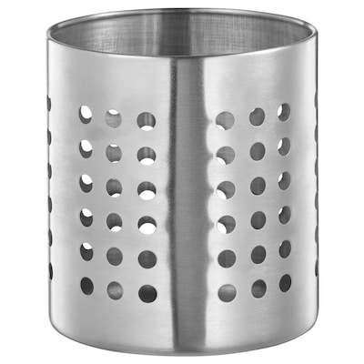 "ORDNING utensil holder stainless steel 5 3/8 "" 4 3/4 """