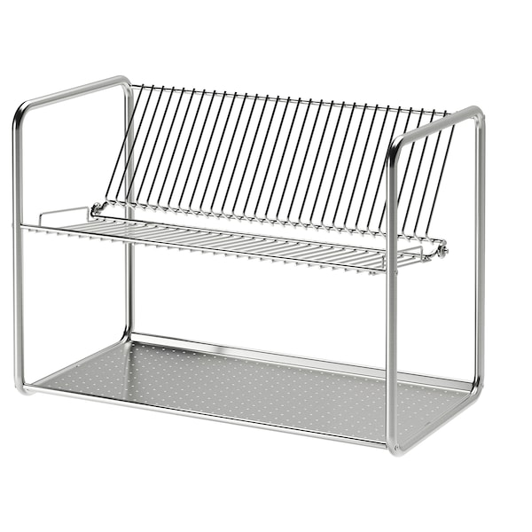 """ORDNING dish drainer stainless steel 19 5/8 """" 10 5/8 """" 14 1/8 """""""