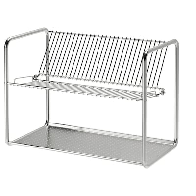ORDNING Dish drainer, stainless steel, 19 5/8x10 5/8x14 1/8 ""