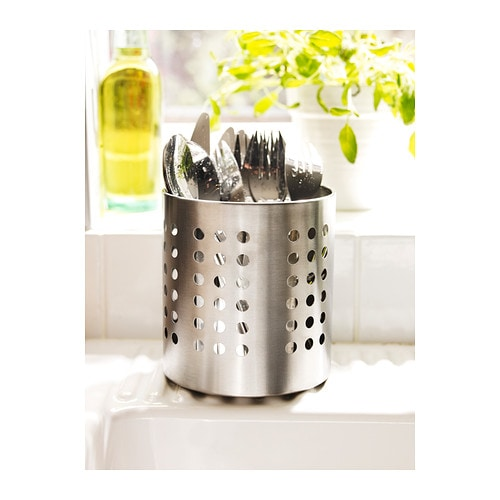 cutlery stand stainless steel utensil holder organizer storage kitchen ikea ebay. Black Bedroom Furniture Sets. Home Design Ideas