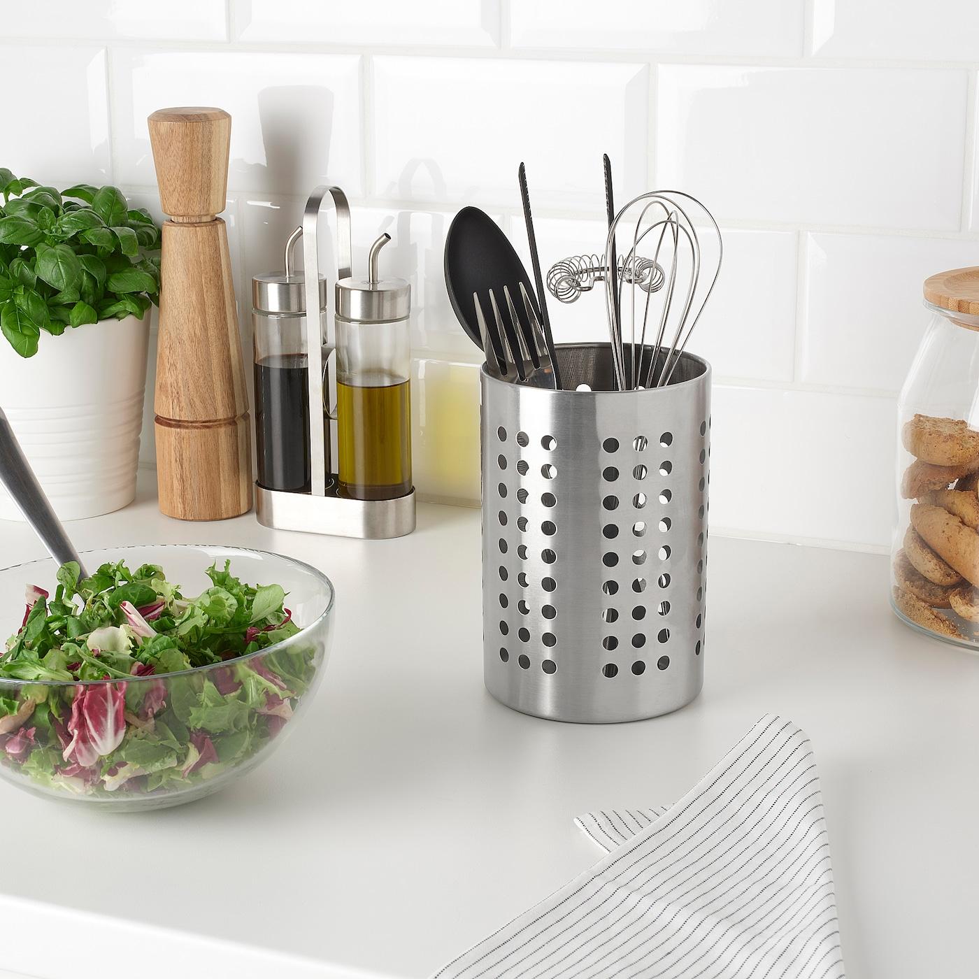 18cm Ikea semblant de cuisine ustensiles support en acier inoxydable; Couverts panier