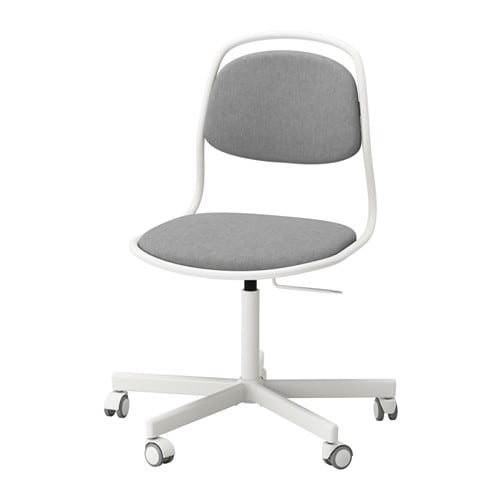 ÖRFJÄLL / SPORREN Swivel chair, white, Vissle light gray white/Vissle light gray -