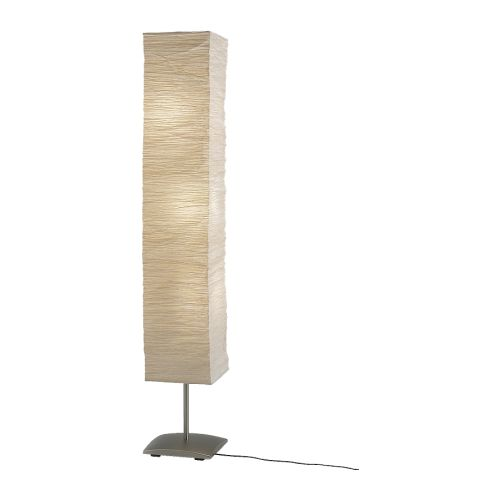 ORGEL VRETEN Floor lamp IKEA Shade of handmade paper; each shade is unique. Gives a soft mood light.