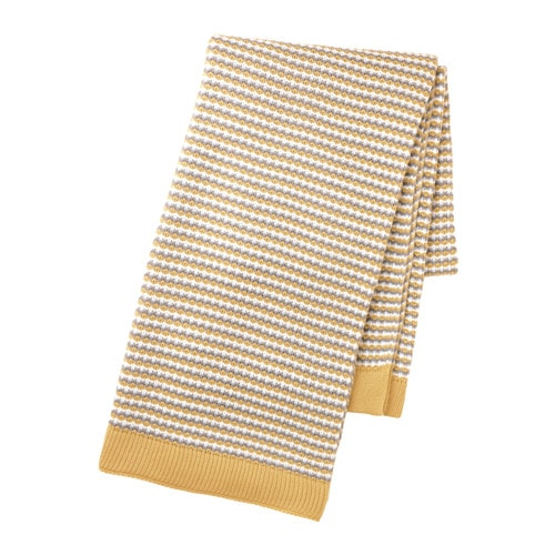 ORMHASSEL Throw, yellow, gray