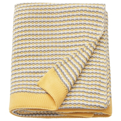 "ORMHASSEL throw yellow 71 "" 47 """